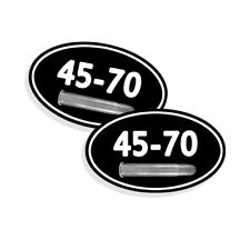 "45-70  Ammo Can Stickers Ammunition Gun Case Labels 5""x3"" OVAL Decal 2 pack"