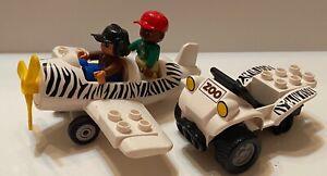 LEGO - Duplo Zoo/Safari Airplane & Airplane Pilot and Zookeeper
