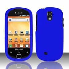 Hard Rubberized Case for Samsung Gravity Smart T589 - Blue