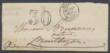 1870 Lettre taxe 30c Obl CAD T15B ROUEN St/SEVER + BR A : SOTTEVILLE X3670