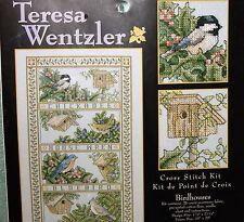 BIRDHOUSES cross stitch kit TERESA WENTZLER Leisure Arts NIP htf