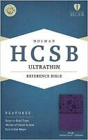 HCSB Ultrathin Reference Bible, Purple LeatherTouch Indexed - Holman Bible Publi