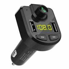 Handsfree Car Fm transmitter Dc 12-24V Abs Accessories Bluetooth Wireless Black