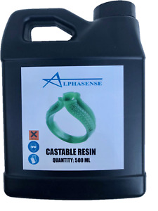 ALPHASENSE 3D DLP/SLA/LCD WAX  CASTABLE RESIN FOR DENTAL & JEWELRY (500ML)