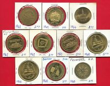 Lot Of 10 United States Half Dollar Trade & Other Tokens 1961 - 1968