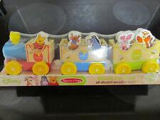 New Winnie the Pooh Wooden Train ChooChoo Playset Set Toy Melissa&Doug Disney 2+
