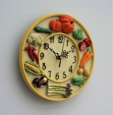 Wall Clock Kitchen School Office Home Shabby Chic wood effect Decor Quartz 23cm