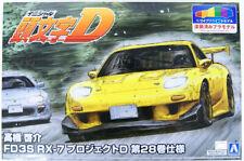 Aoshima Initial D: Keisuke Takahashi FD3S RX-7 Project D Vol.28 1/24 Scale  Kit