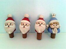 SUPER PROMOZIONE Quattro Tappi per Bottiglia Natale EGAN