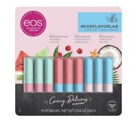 9-EOS Flavor Lip Balm Family Pack SheaButter Cocobutter Beeswax Avocado/OliveOil