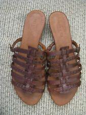Sesto Meucci Brown Strappy Sandal Heel Women Size 9 M
