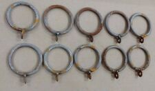 """Drapery Curtain RINGS 1 7/8"""" inside  RAW UNFINISHED WITH SOME RUST 10 pack"""