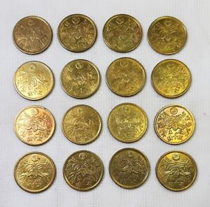 Lot of 16 Japan 1946 Showa Phoenix Large 50 sen Brass Coins 16 pcs  - zx-102