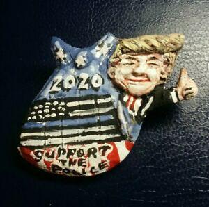 "President Donald Trump 2020 Campaign Pin Trump ""Support The Police"" Folk Art Pin"