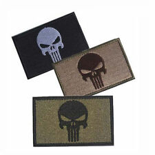 3PCS PUNISHER SKULL SWAT OPS ARMY MILITARY TACTICAL VELCRO MORALE BADGE PATCH