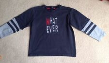 Boy's Next Long-Sleeved T-Shirt with 'What Ever' Slogan Age 4 Years