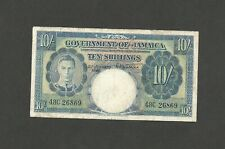 JAMAICA GOVERNMENT OF JAMAICA 10 SHILLINGS 1948 PICK-38d