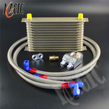 Champagne AN10 Trust Oil Cooler 13 Row +3/4*16 & M20*1.5 Filter Adapter Hose Kit