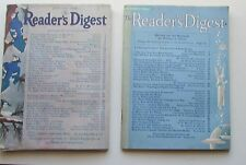 1944 Readers Digest Magazines  2 Issues