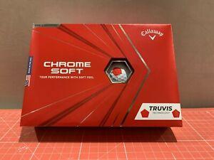 Callaway 2020 Chrome Soft Truvis Golf Balls - Rot/weiss