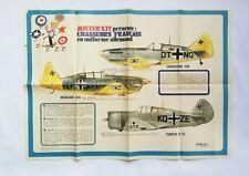 BD - Supplement Spirou 1836 Poster Aviation Chasseurs Français / 1973