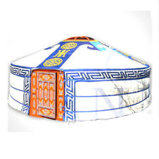 Mongolian Yurt, Blue Canvas Cover with Hammer Pattern