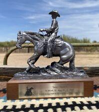 New listing Charlene Morgan Western Sculpture Cowboy Reining Horse Nrha Award Sliding Stop