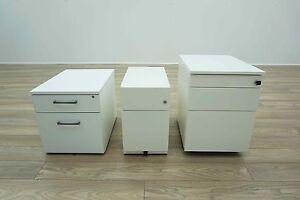All Sizes & Styles - White Mobile Under Desk Office Pedestals