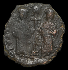 Constantine X with Eudocia, AD 1059-1065. AE Follis, Christ standing