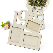 Hollow Love Wooden Family Photo Picture Frame White Base Art Home Decor Fun DIY