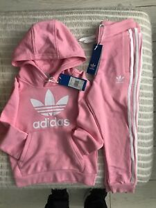 Adidas Oroginals, Girls, BNWT, Tracksuit Set-Pants & Hoodie, Pink, Age 7-8 Years