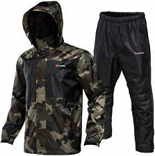 Rodeel Waterproof Fishing Rain Suit for Men (Rain gear, Camouflage, Size Large R