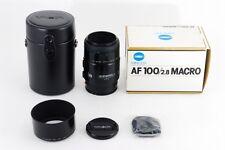 MINT Minolta AF Macro 100mm F2.8 NEW Lens for Sony Minolta from Japan a287
