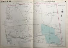 ORIG 1950 MAIN LINE, CHESTER CO. PA, WEST WHITELAND TWP, EXTON, PLAT ATLAS MAP