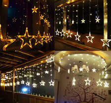 New 2M Curtain Window Star String Fairy Light Lamp Christmas Wedding Party Decor