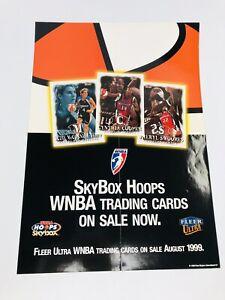 Vintage SkyBox Hoops WNBA 1999 Trading Cards Poster Fleer