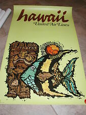 UNITED AIRLINES POSTER HAWAII  1967 JEBRAY
