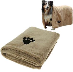 Super Absorbent Doggy Bath Towel, Microfibre Pet Bath Towel 100 x 60 cm