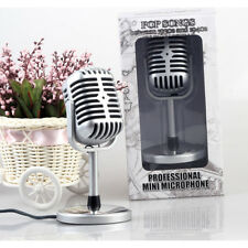 Retro Style Condenser Microphone Audio Studio Sound Recording for Mac Laptop PC