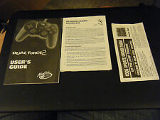Mad Catz Dual Force2, StormChaser GamePad User's Guide & Game Genie Order Form