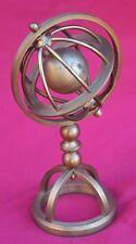 Armillary Sphere Miniature Brass  Ball Paperweight Desk Hand Crafted