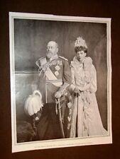 Re Edoardo VII e Regina Alessandrina d'Inghilterra nel 1903