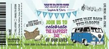 50 Personalised Picnic Wedding Fest Wedfest Ticket Invitations!The Invite Shack