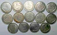 Latvia 2 Lati 1925/1926 Old Good Silver coins! investment Lot! 14 Silver coins!