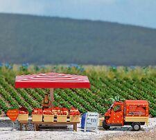 OO/HO Life Paysage - Fraise vendeur, Fruit Socle - Busch 7725 P3
