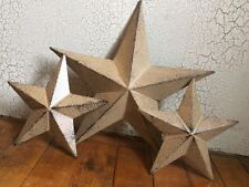 "(Set of 3) RUSTIC BLACK BARN STAR 10"", 6"" PRIMITIVE COUNTRY FARMHOUSE DECOR"