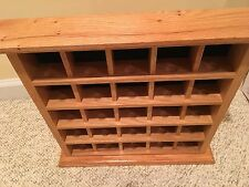 SOLID WOOD 25 GOLF BALL DISPLAY CASE CABINET SHELF WALL MAN CAVE GIFT