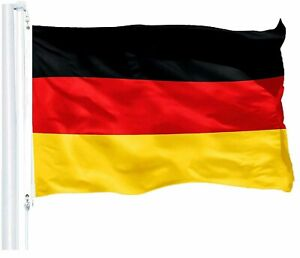 G128 - Germany Flag 3x5 ft Printed with Brass Grommets on 150D Quality Polyester