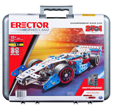 ERECTOR by MECCANO 27-in-1 CHAMPIONSHIP RACE CAR Steam Building Kit 19205 New