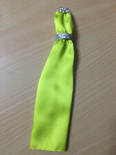 Barbie Doll Model Muse The Look Red Carpet Lime Green Satin Dress Gown Belt Rare
